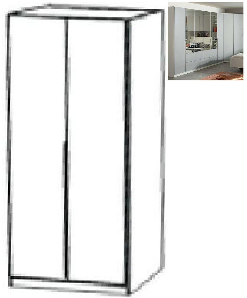 Rauch Memphis 2 Door Wardrobe in Alpine White and Silk Grey