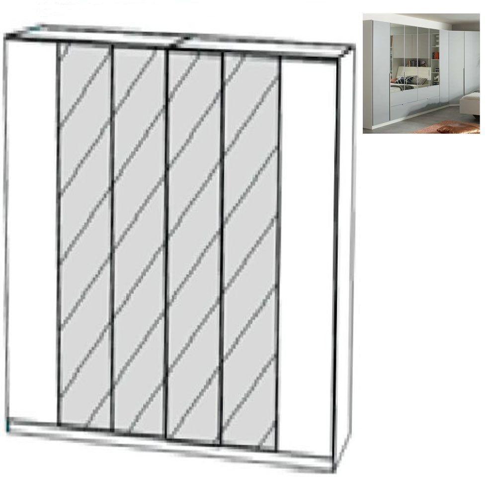 Rauch Memphis 6 Door 4 Mirror Wardrobe in Alpine White and Silk Grey