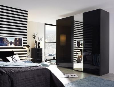 Rauch Miramar 2 Door Sliding Wardrobe in Basalt - W 226cm
