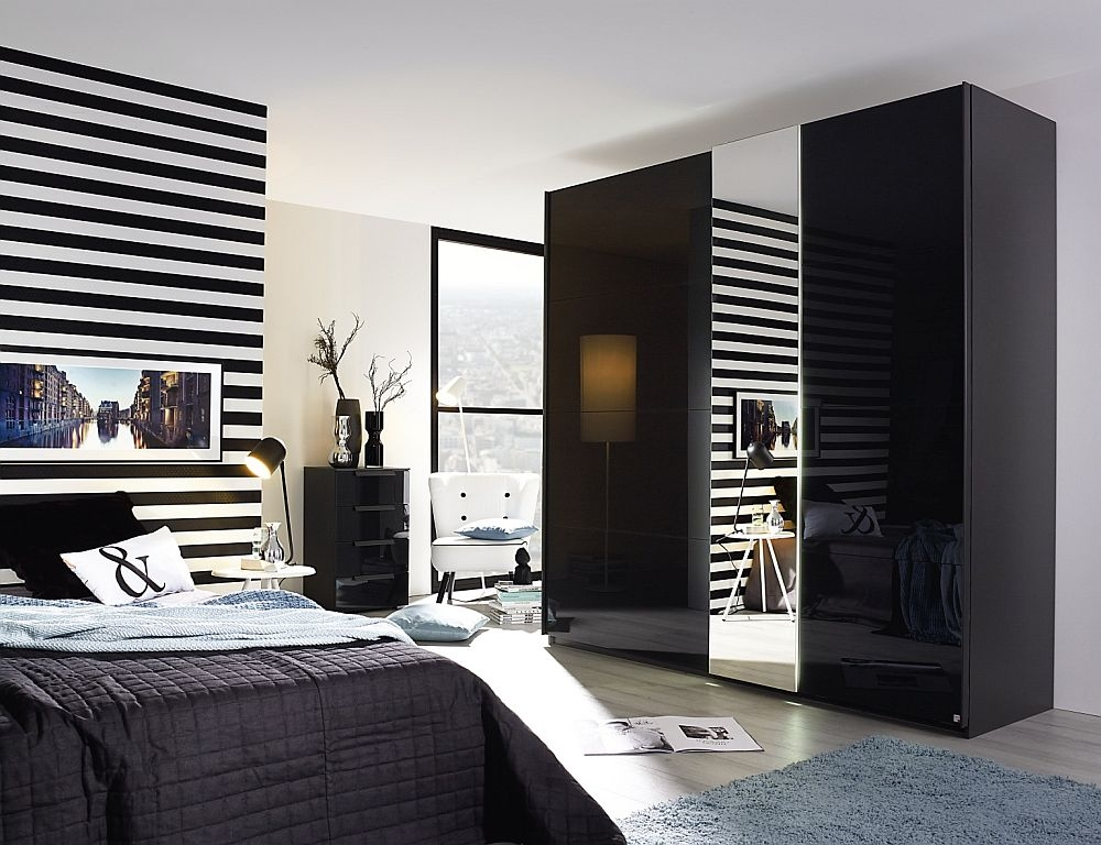 Rauch Miramar 2 Door Sliding Wardrobe in Basalt - W 226cm