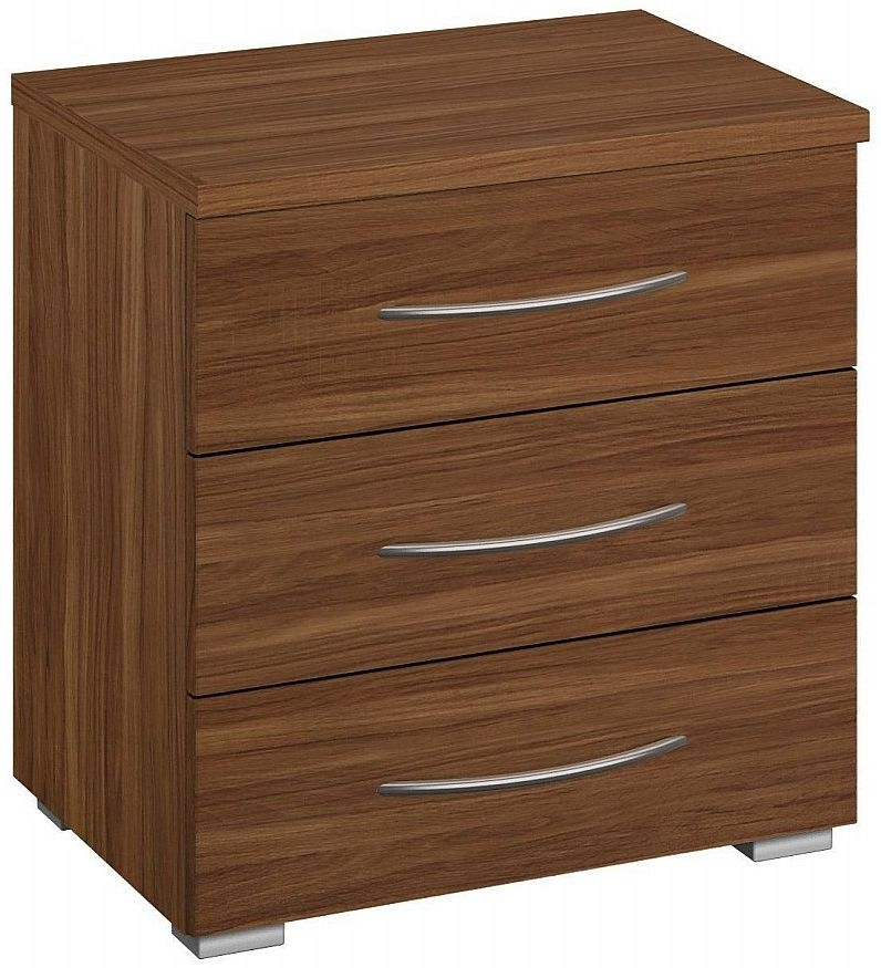 Rauch Molmo Royal Walnut Bedside Cabinet - 3 Drawer