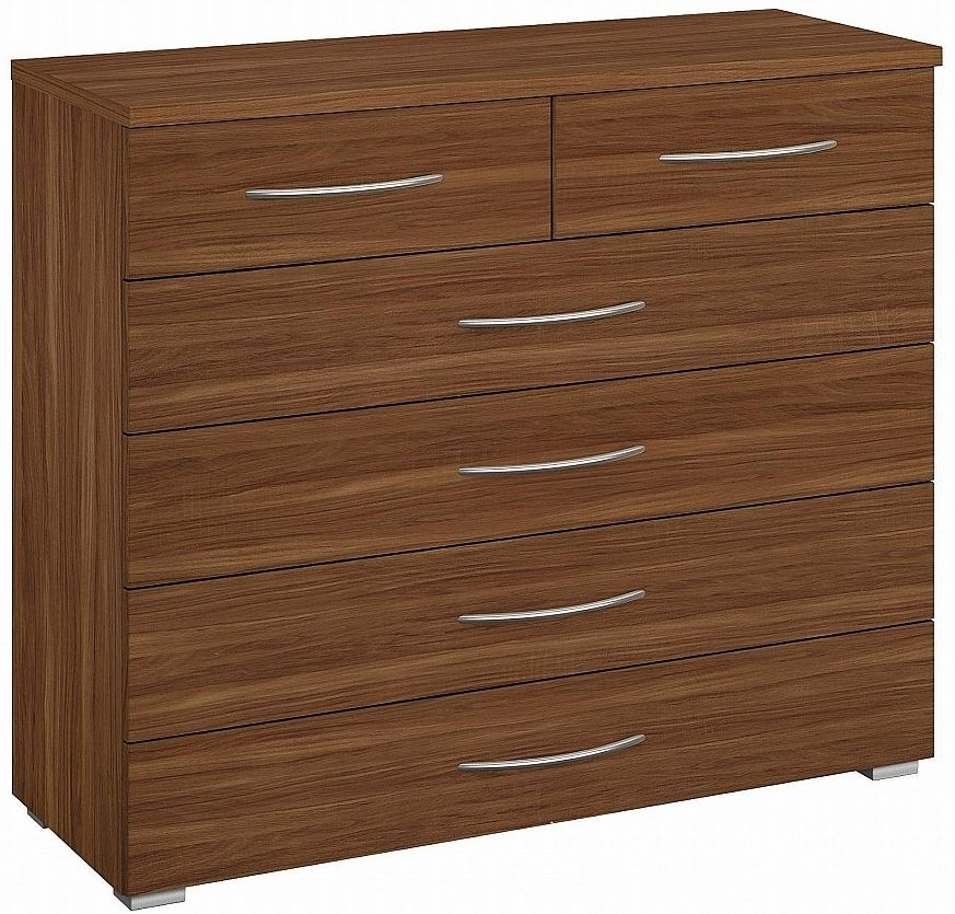 Rauch Molmo Royal Walnut Chest of Drawer - 4+2 Drawer