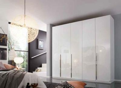 Rauch Montclar 5 Door Wardrobe in Alpine White and High Polish White - W 251cm