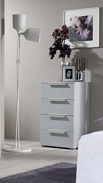 Rauch Moyano 3 Drawer Bedside Cabinet in Silk Grey