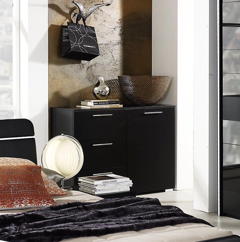 Rauch Nala 1 Door 5 Drawer Combi Chest in Black