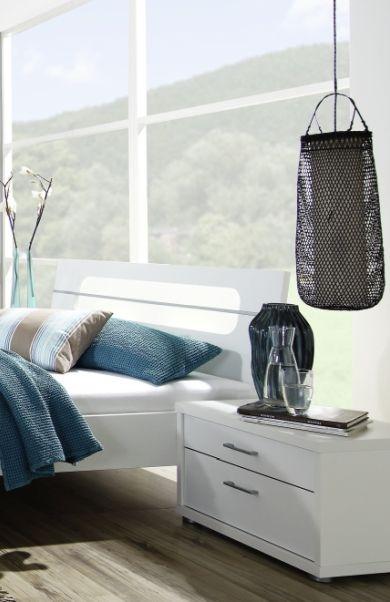Rauch Plus 2 Alpine White 3 Drawer Bedside Cabinet