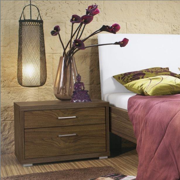 Rauch Plus 2 Royal Walnut 3 Drawer Bedside Cabinet