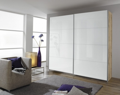Rauch Quadra Sliding Wardrobe with High Polish Front