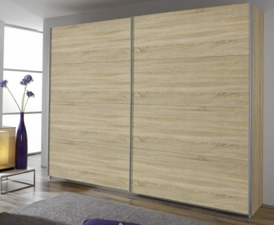 Rauch Quadra 2 Door Sliding Wardrobe in Oak - W 271cm