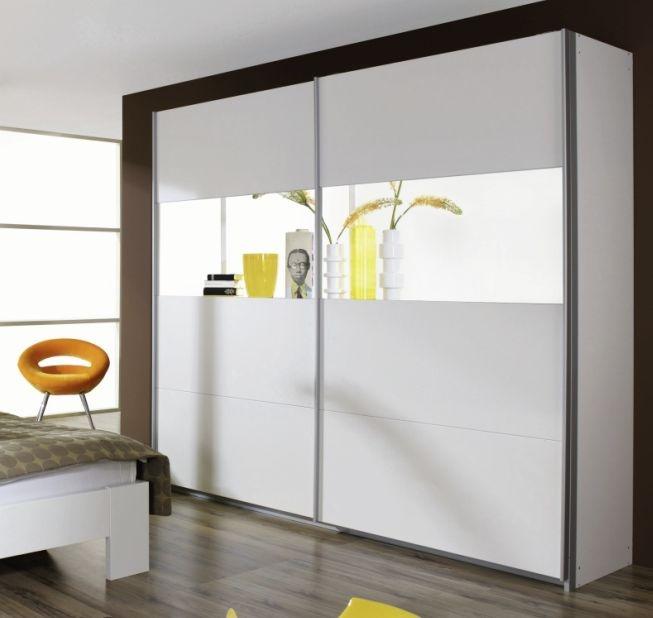 Rauch Quadra 2 Door 1 Mirror Sliding Wardrobe in Alpine White - W 181cm