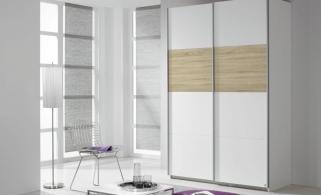 Rauch Quadra Extra Sliding Wardrobe - Front and Application Wood Decor