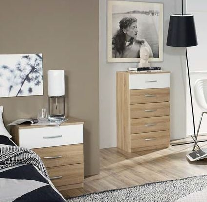 Rauch QuickExtra4you 2+4 Drawer Chest in Sonama Oak and Alpine White