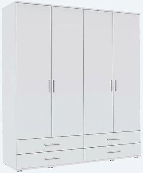 Rauch Rasant 4 Door 4 Drawer Combi Wardrobe in Alpine White - W 168cm