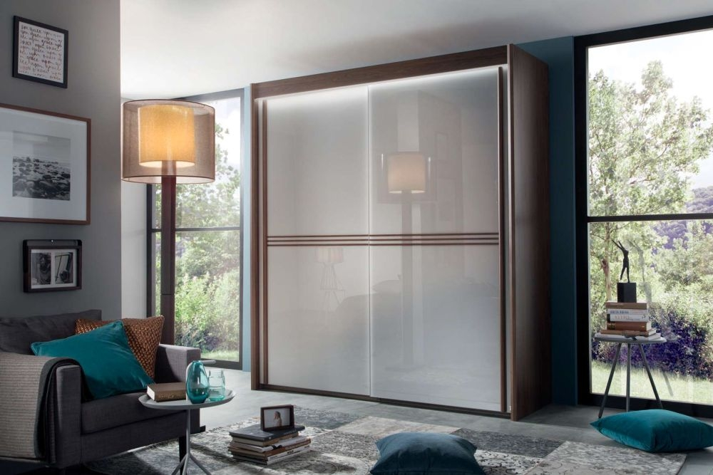 Product photograph showing Rauch Ravello Sliding Wardrobe With 3 Strip Front