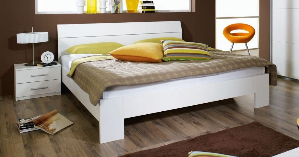 Rauch Relation 6ft Queen Size Futon Bed in Alpine White - 180cm x 200cm