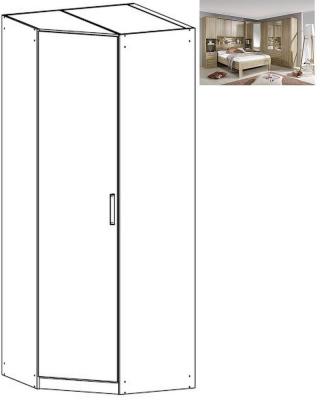 Rauch Rivera 1 Door Corner Wardrobe with Cornice in Sonoma Oak