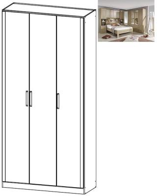 Rauch Rivera 3 Door Wardrobe with Cornice in Sonoma Oak