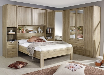 Rauch Rivera Bedroom Set with 160cm Bed in Sonoma Oak