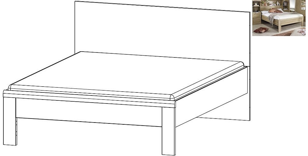 Rauch Rivera 4ft 6in Double Bed in Sonoma Oak - 140cm x 190cm