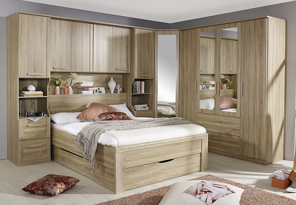 Rauch Rivera Bedroom Set with 160cm Storage Bed in Sonoma Oak