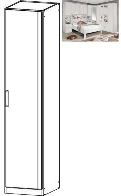 Rauch Rivera 1 Door Wardrobe with Cornice in Alpine White