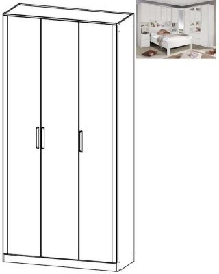 Rauch Rivera 3 Door Wardrobe with Cornice in Alpine White