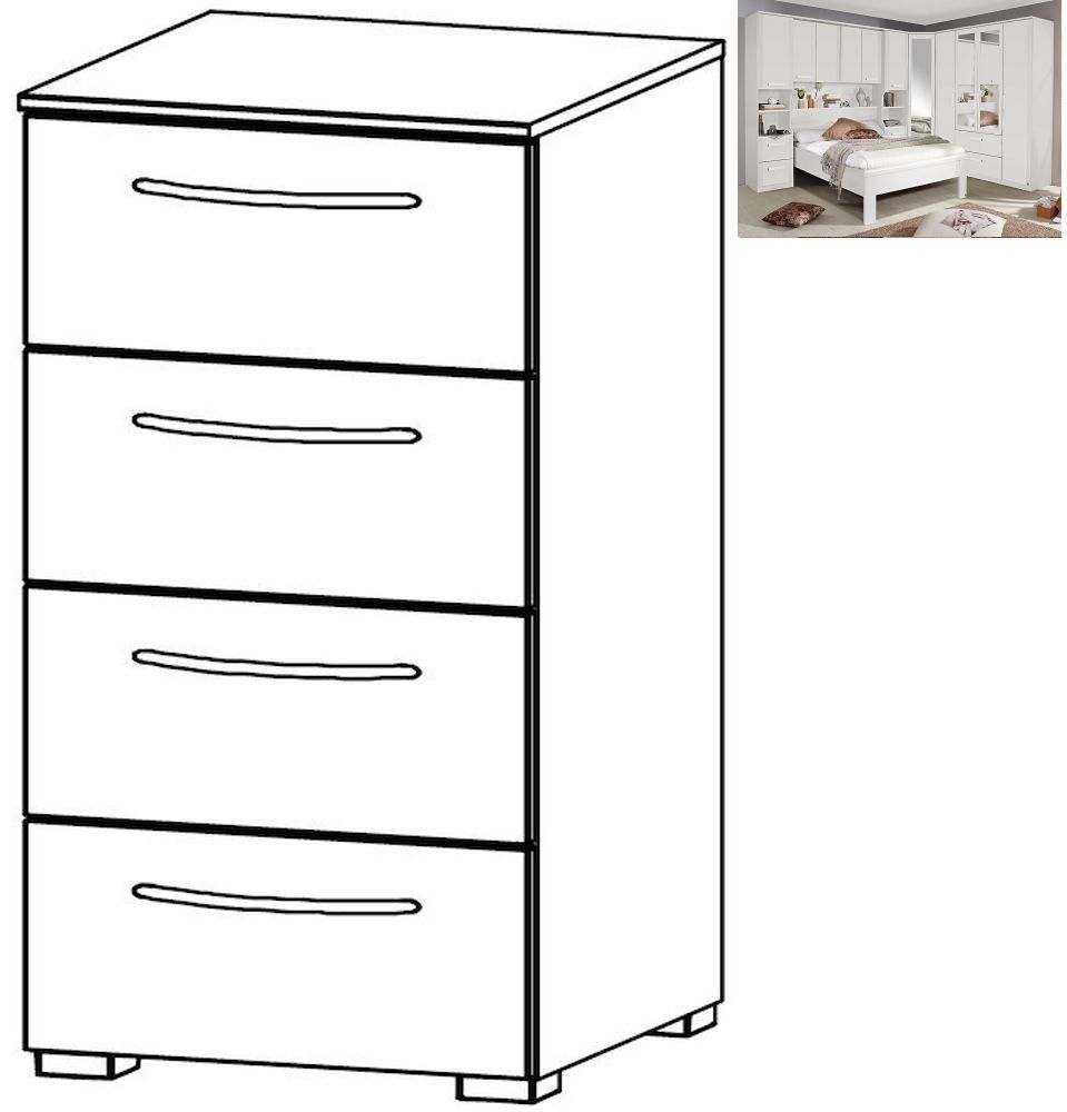 Rauch Rivera 4 Drawer Chest in Alpine White - W 40cm