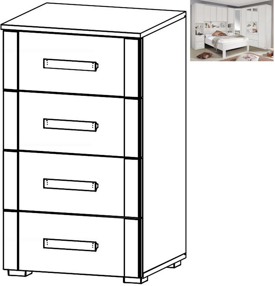 Rauch Rivera 4 Drawer Chest in Alpine White