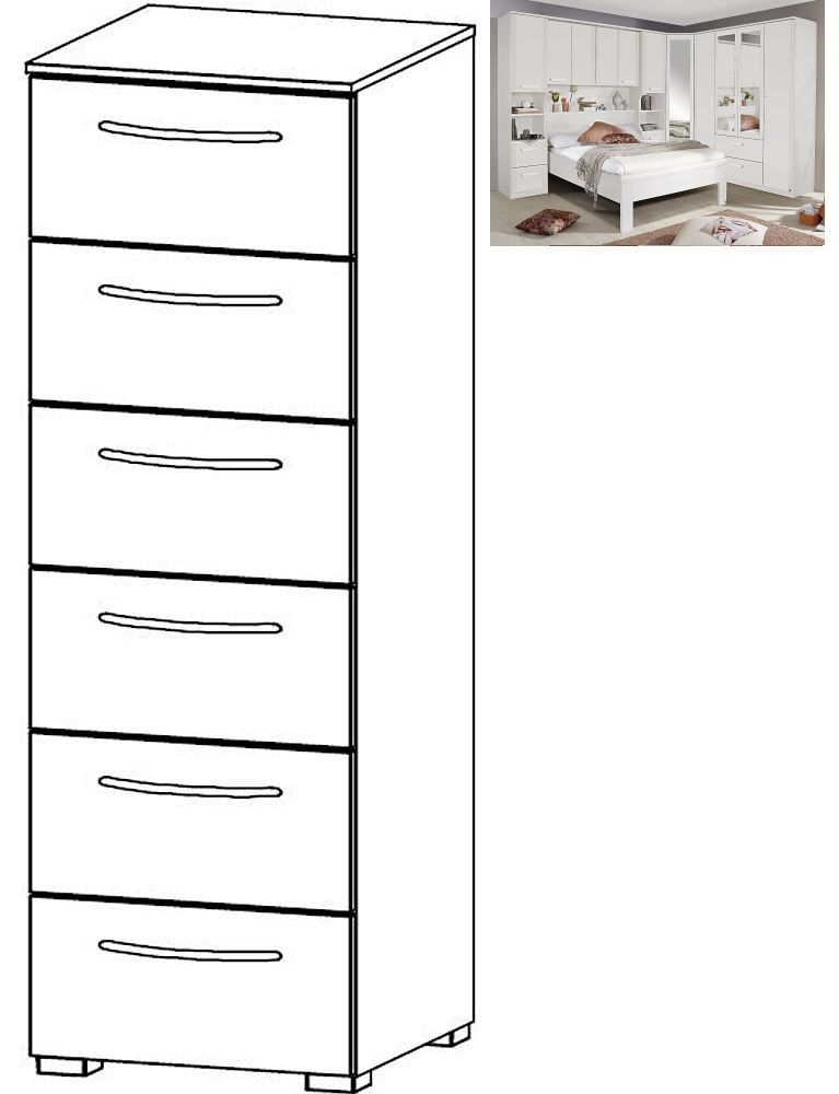 Rauch Rivera 6 Drawer Chest in Alpine White