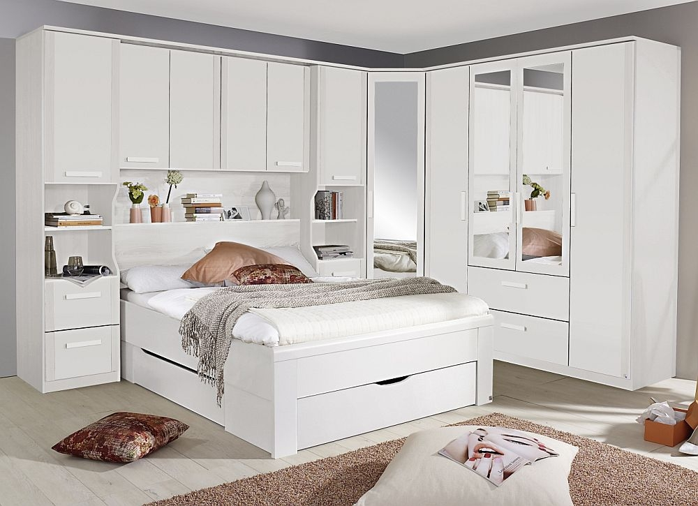 Rauch Rivera Bedroom Set with 140cm Storage Bed in Alpine White