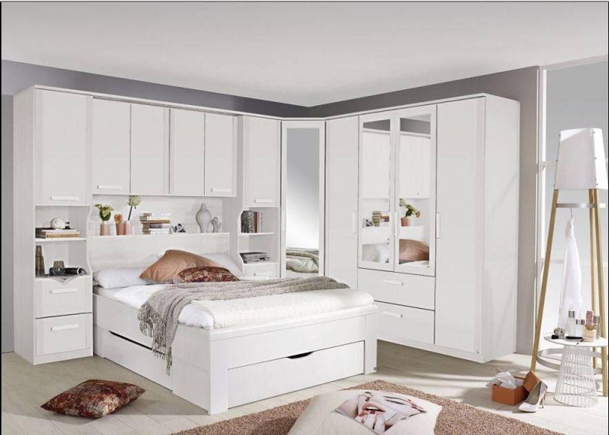 Rauch Rivera White Alpine White 4ft 6in Double Bed with Plinth Drawers - 140cm x 190cm
