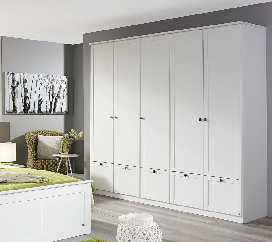 Rauch Rosenheim 4 Door 2 Mirror Wardrobe in Alpine White with Cornice - W 181cm
