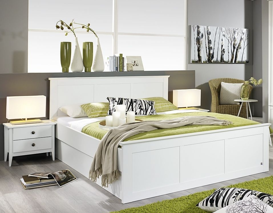 Rauch Rosenheim 5ft King Size Closed Foot Panel Bed in Alpine White - 160cm x 200cm