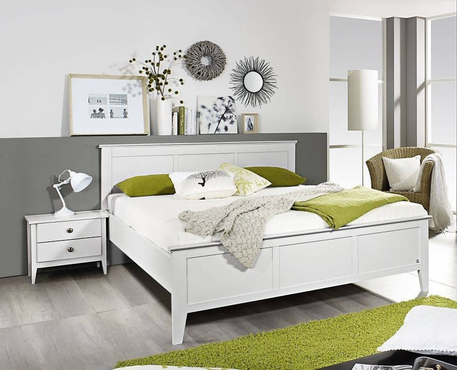 Rauch Rosenheim 5ft King Size Open Foot Panel Bed in Alpine White - 160cm x 200cm
