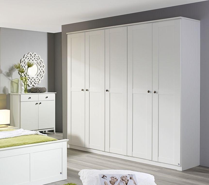 Rauch Rosenheim Alpine White 6 Door Wardrobe with Cornice - W 271cm