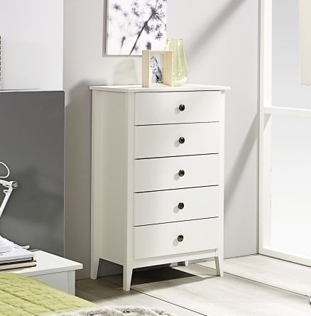 Rauch Rosenheim Alpine White Chest of Drawer - 5 Drawer