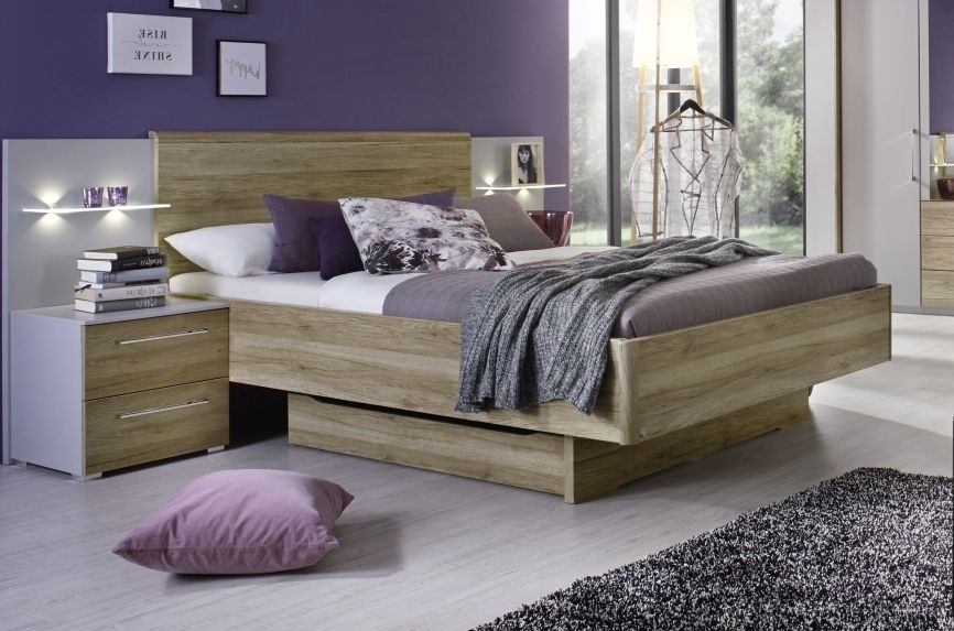 Rauch Sheryl 4ft 6in Double Bed in Oak - 140cm x 190cm