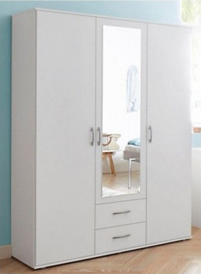 Rauch Simply4you 3 Door Combi Wardrobe in White - W 127cm