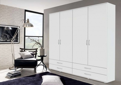 Rauch Simply4you 4 Door Wardrobe in White - W 168cm