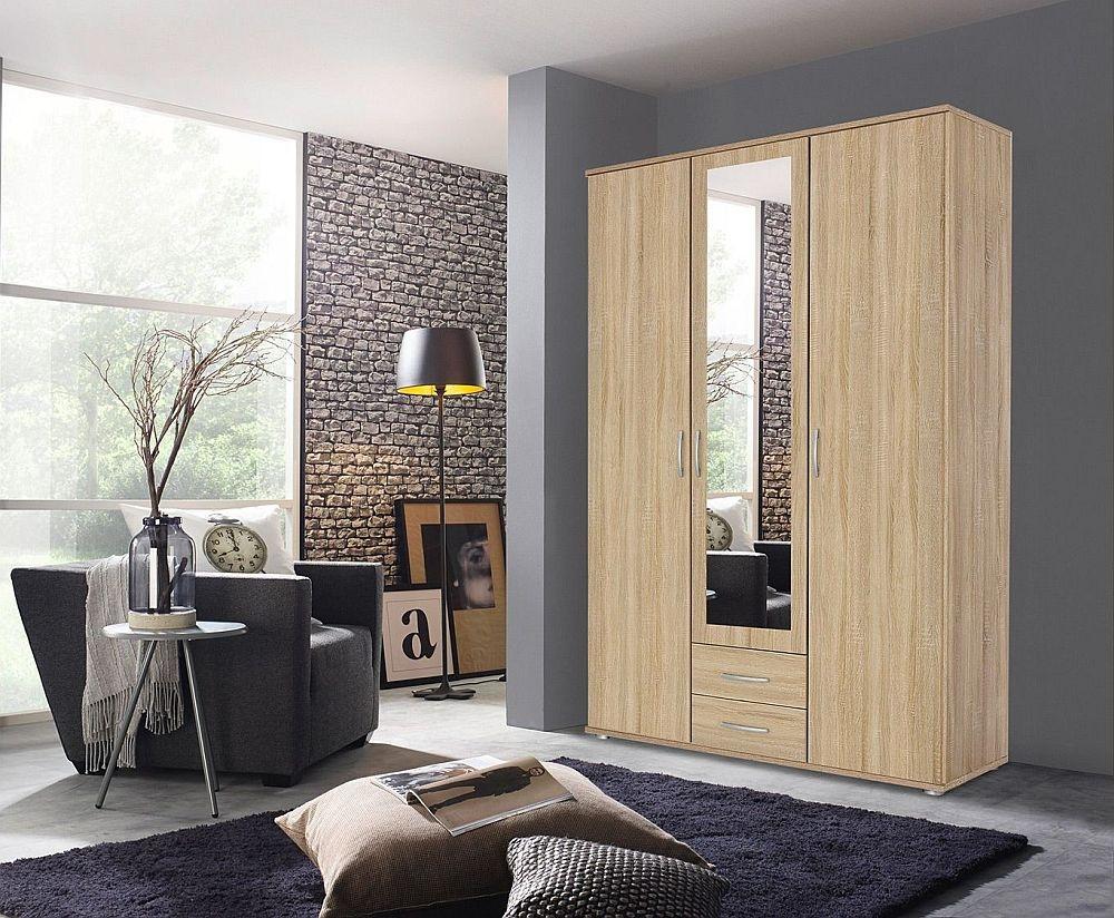 Rauch Simply4you 3 Door Combi Wardrobe in Oak - W 127cm