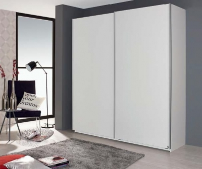 Rauch Sona 2 Door Sliding Wardrobe in White - W 181cm