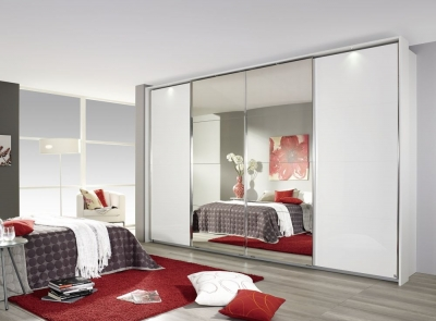 Rauch Syncrono High Polish Front Sliding Wardrobe