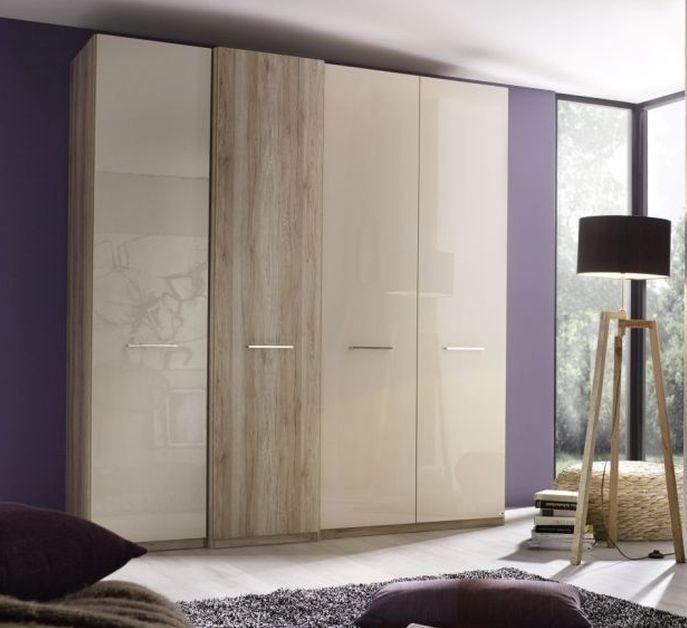 Rauch Talita Sanremo Oak with High Gloss Cappuccino 4 Door Wardrobe