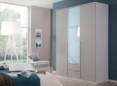 Rauch Texas 3 Door Combi Wardrobe in Silk Grey - W 136cm