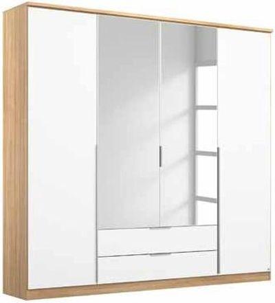 Rauch Texas 4 Door Combi Wardrobe in Sonoma Oak and Alpine White - W 181cm