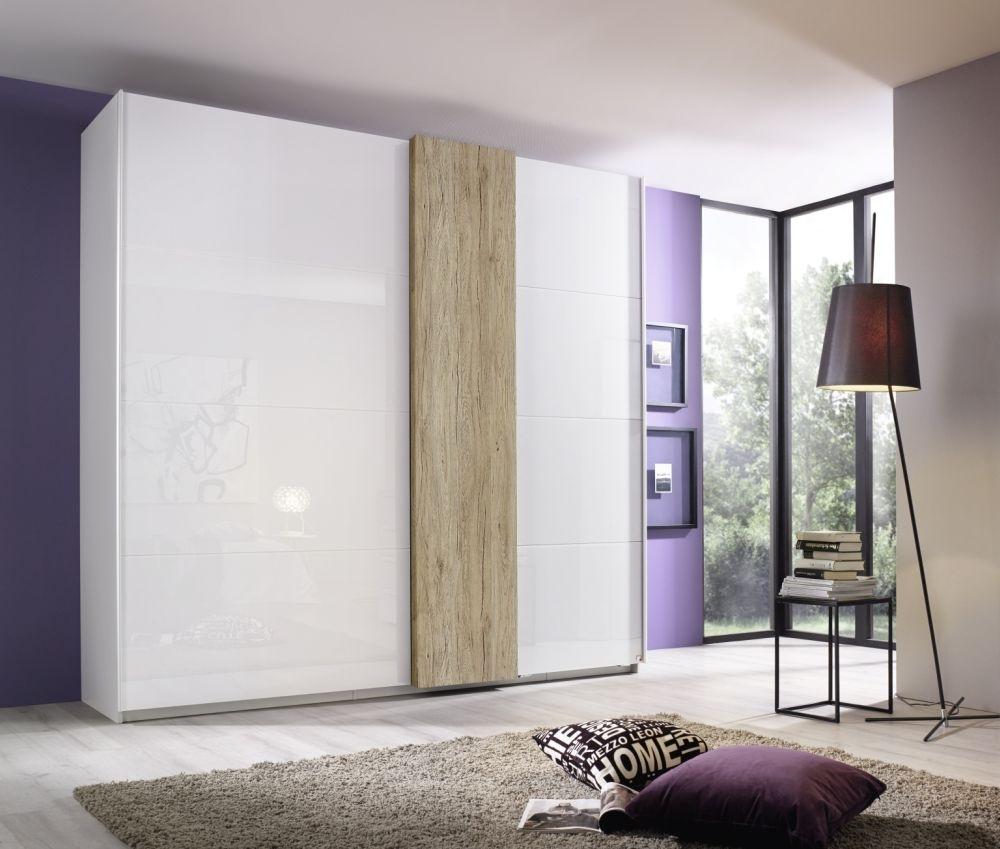 Rauch Tura 2 Glass Door Sliding Wardrobe in Alpine White - W 270cm
