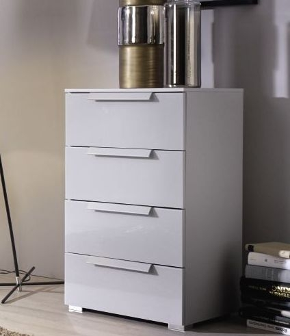 Rauch Tura 4 Drawer Narrow Chest in Silk Grey