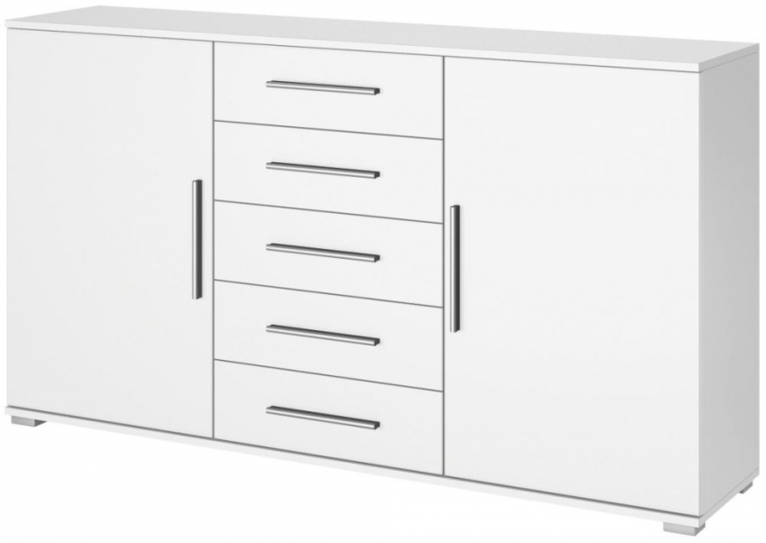 Rauch Vereno Alpine White High Feet 1 Door with 2 Drawer Combi Chest
