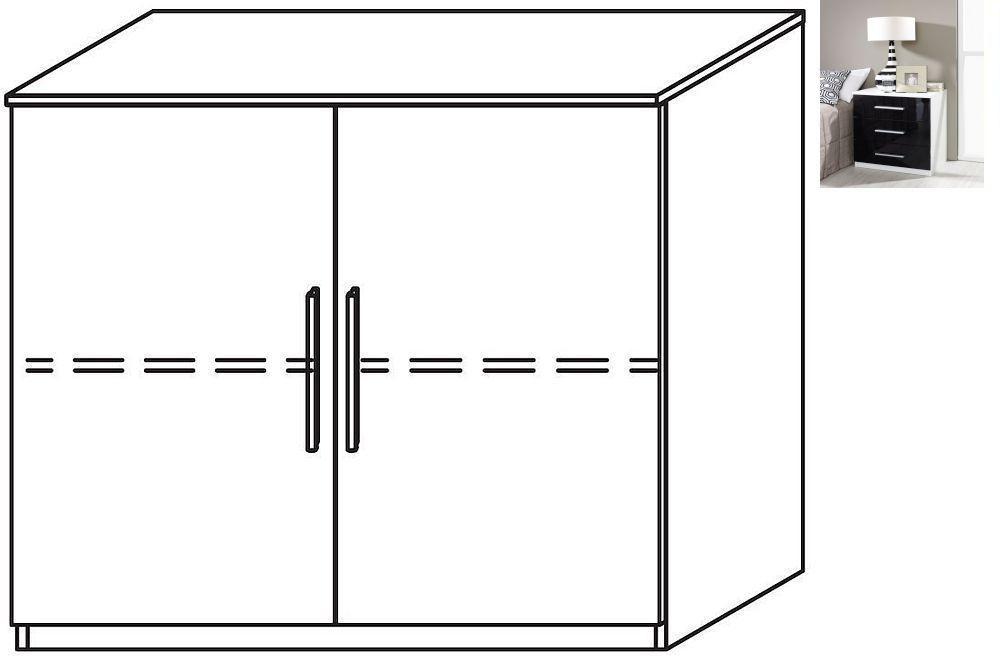 Rauch Vereno 2 Door Cupboard in Alpine White and Basalt