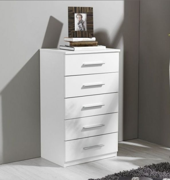 Rauch Vereno Alpine White 5 Chest of Drawer